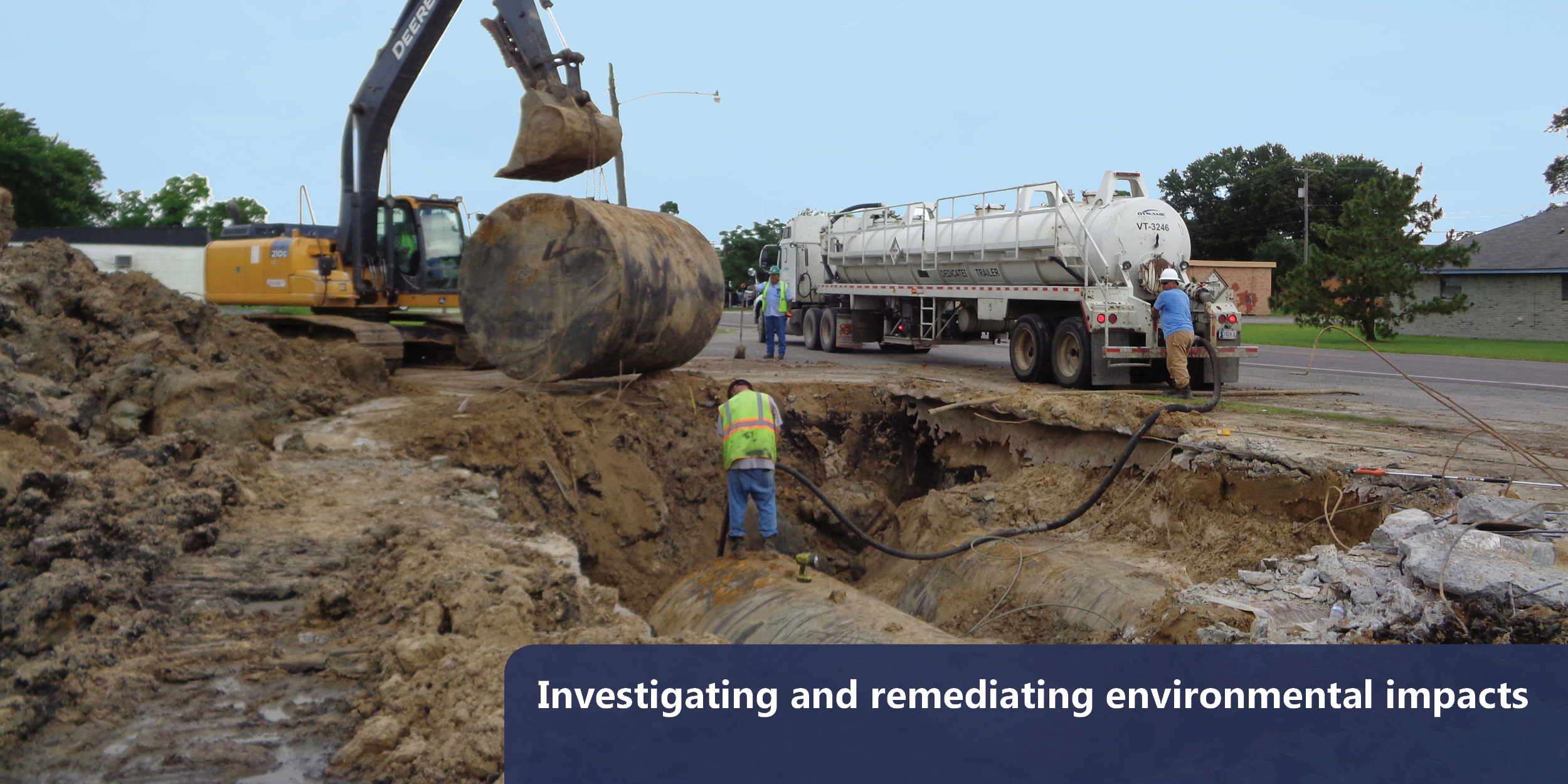 Investigating and remediating environmental impacts